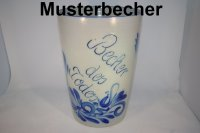 5 Liter Becher mit Text