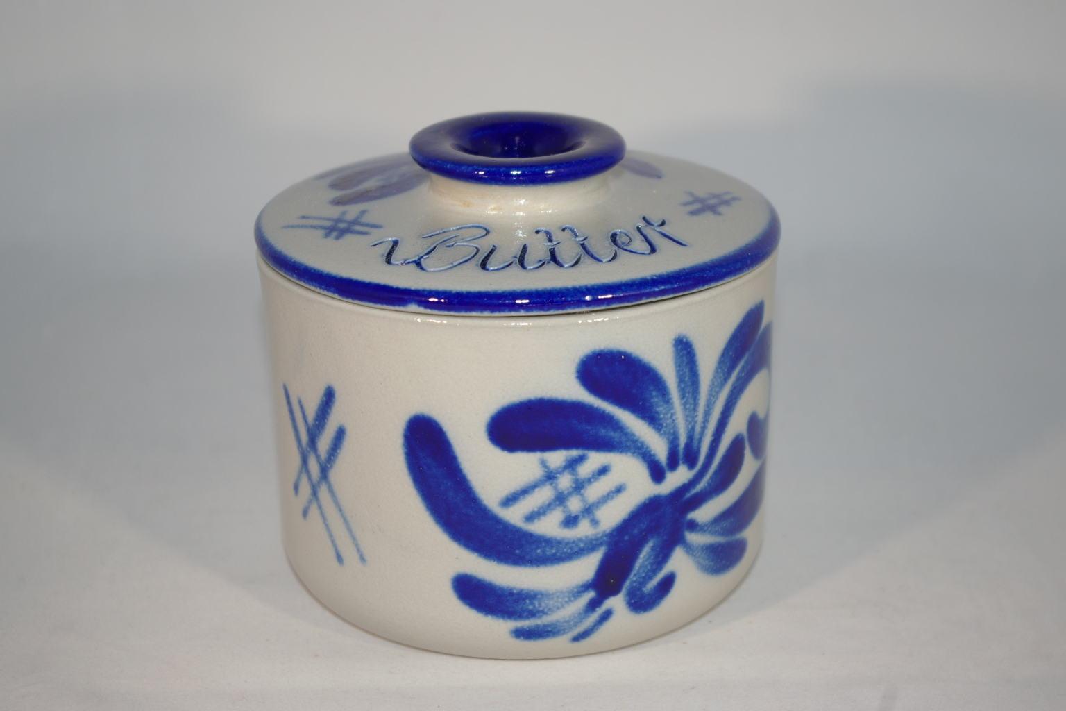 butterk hler blau grau steinzeug bembel shop keramik. Black Bedroom Furniture Sets. Home Design Ideas