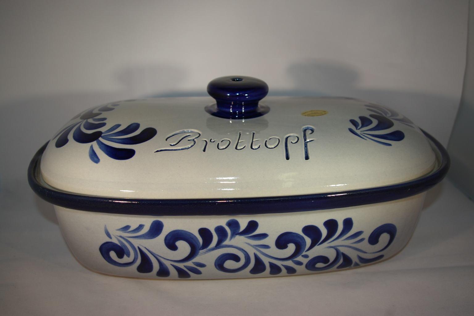 brottopf 40 cm grau blau bembel shop keramik seifert. Black Bedroom Furniture Sets. Home Design Ideas